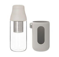 Flasche mit Teesieb SCENE 500 ml | Weiß