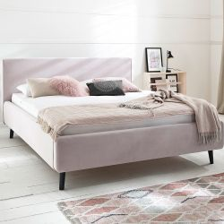 Upholstered Bed Luana | Pink