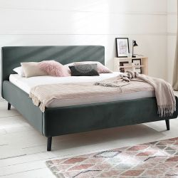 Upholstered Bed Luana | Dark Grey