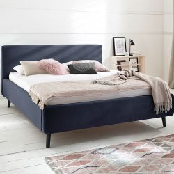Upholstered Bed Luana | Dark Blue