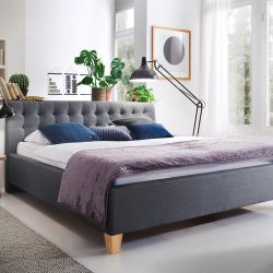 Upholstered Bed Lucca | Grey