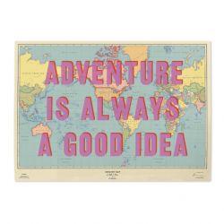 Rubbelkarte - Artist Edition | Adventure Is Always A Good Idea