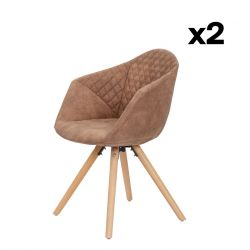 Set of 2 Chairs Luke 222 | Brown