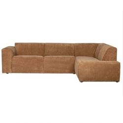 Corner Sofa Right Luna | Brown