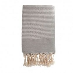 Lurex Beach Fouta | Pearl Grey & Silver