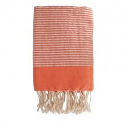 Lurex Strand Fouta | Oranje & Zilver
