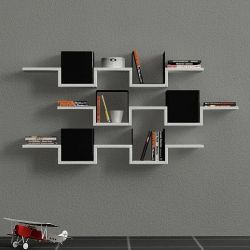 Ales Wall Shelf | White & Black