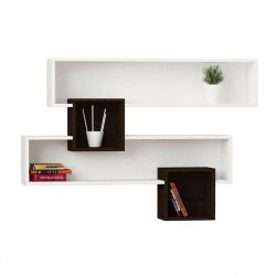 Salad Wall Shelves | White & Wengé