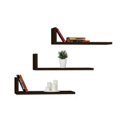 Shelf L-Model Set of 3 | Wengé