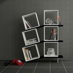 Balanced Book Shelf White / Black