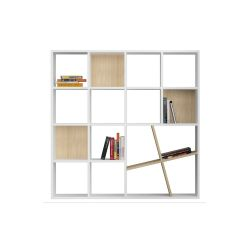 Bookcase Honey | White