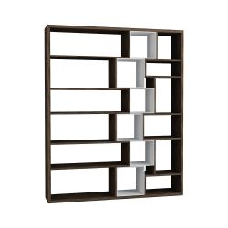 Roscoe Book Shelf | Dark Brown / White