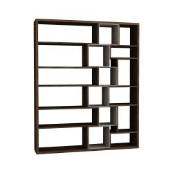 Roscoe Book Shelf | Dark Brown / Light Mocha