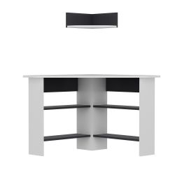Schreibtisch Tuzzy | Weiß-Anthrazit