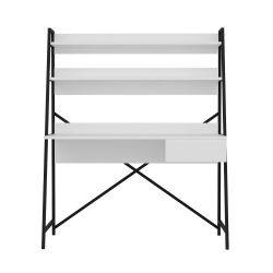 Schreibtisch Arte | Weiß-Schwarz