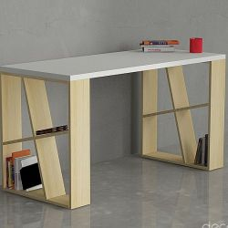 Honey Desk | White & Oak