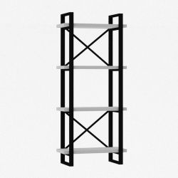 Bookcase Modern Alaro | White & Black