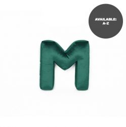 Cushion Letter Velvet Green | M
