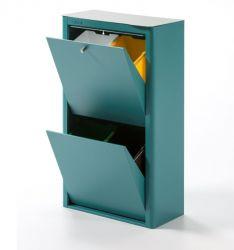 Recycling-Behälter mit vier Einzelbehältern Cubek | Türkis