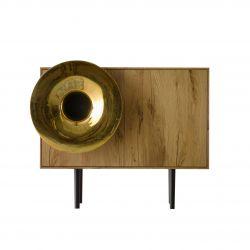Cabinet Sound System | Vintage Oak & Gold