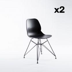 Set de 2 Chaises Madrid | Noir
