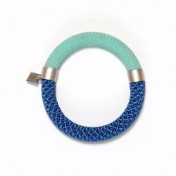 Mae Bracelet Pistache-Blauw