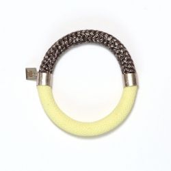 Mae Bracelet Vanilla-Grijs