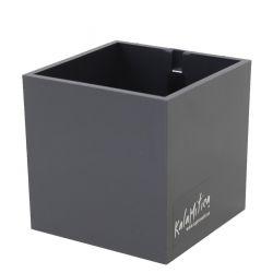 Magnetic Cube 9 cm | Gunmetal