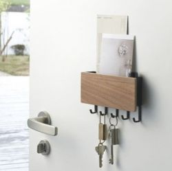 Magnetic Keyhook & Holder Rin | Brown