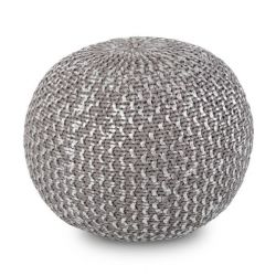 Pouf Majestic Knitted Foil Print