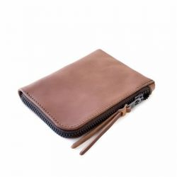 Cordovan Zip Slim Wallet | Natural Horween Shell Cordovan Leather