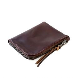 Cordovan Zip Slim Wallet | Ox Blood Horween Shell Cordovan Leather