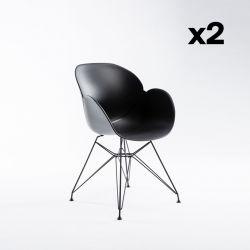 2-er Set Stühle Malaga | Schwarz