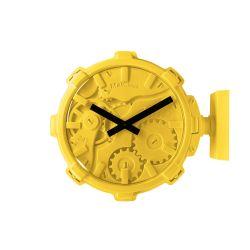 Mal Wall Clock Stereo   Yellow