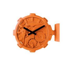 Mal Wall Clock Stereo   Orange