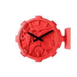 Mal Wall Clock Stereo   Red