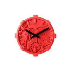Mal Wall Clock Mono   Red