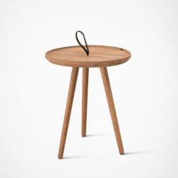 MALIN Side Table | Oak-Without Glass