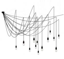 Pendant Lamp Maman 14 Lamps | Black