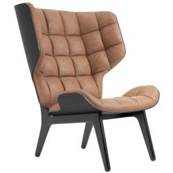 Armchair Mammoth | Leather Seat | Black Frame | Brown