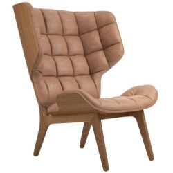 Armchair Mammoth | Leather Seat | Smoked Frame | Brown