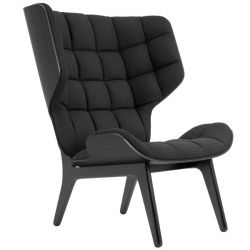 Armchair Mammoth | Wool Seat | Black Frame | Black
