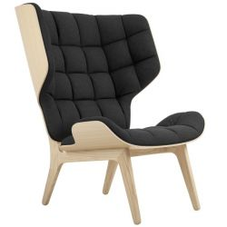 Armchair Mammoth | Wool Seat | Natural Frame | Black