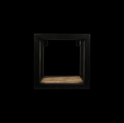 Wandkasten-Ebenen 20x20 cm Mango-Holz