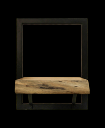 Wall Shelf Levels Live Edge 25x32 cm Acacia Wood