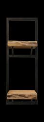Wandsteckbordebenen Lebendige Kante 25x70 cm Akazienholz