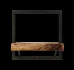 Wandregal Levels mit natürlicher Kante 32x32 cm Akazienholz