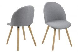 Dining Chairs Mandy | Set of 2 | Light Grey