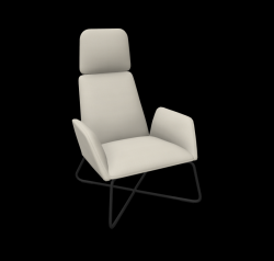 Armchair Manta Club Cross Legs / High Back | Beige