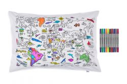 Weltkarte Kissenbezug | 75 x 50 cm